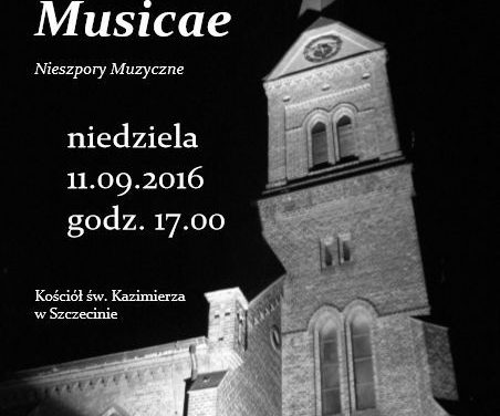 11 września 2016 <BR>Vesperae Musicae