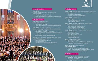 7 czerwca 2014IX Międzynarodowy Festiwal Chóralny